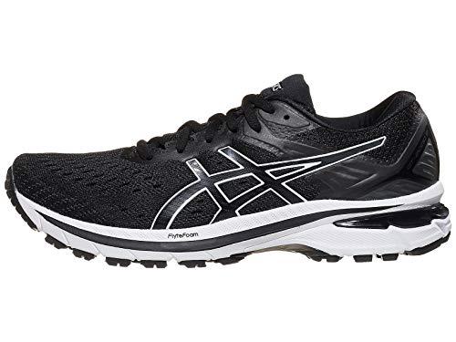 ASICS Women's GT-2000 9 Running Shoes, 8.5M, Black/White