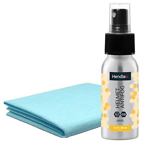 Hendlex Nano Spray Antiappannante - Per Casco Da Moto, Occhiali Da Sci E Occhialini Da Nuoto, 50 ml