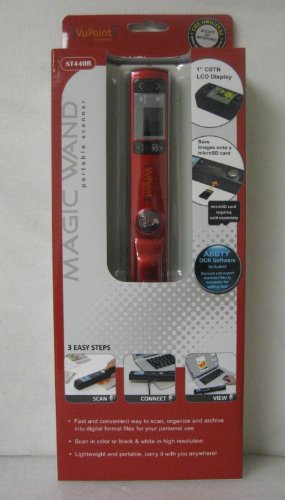 Review Of VuPoint Magic Wand Portable Scanner with Color LCD Preview Display (Red)