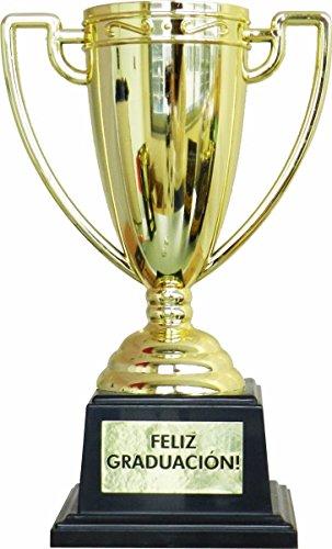 Framan Copa Trofeo con Mensajes para Ocasiones Especiales, Ideal como Regalo Original Y ECONÓMICO. Mensaje Feliz GRADUACIÓN