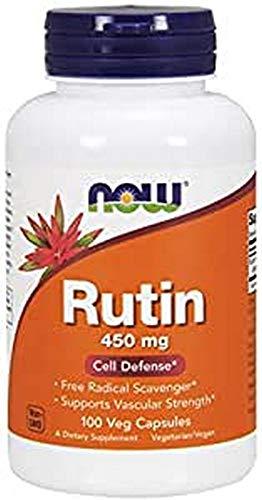 NOW Foods Rutina, 450 Mg 100 Unidades 90 g