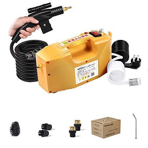 Limpiador De Vapor De Alta Temperatura De Alta PresióN 3000W Vaporizador Multifunción,Con Tubo De Pistola Pulverizadora De 10.4 Pies,Yellow
