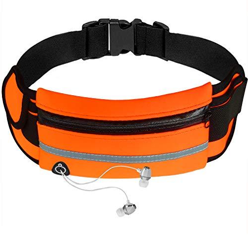 Bolsa de Cintura de Teléfono Riñoneras Deportivas Antirrobo Impermeable con Orificio para Auriculares para Correr al Aire Libre para Hombres y Mujeres