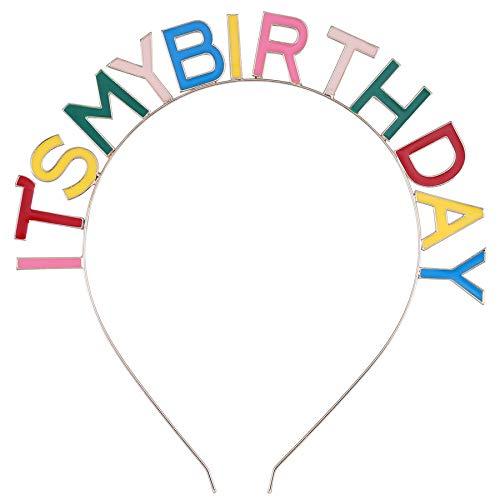 Coucoland Geburtstag Haarreif Damen Mädchen Geburtstagskrone Bunt Birthday Girl Crown Haarband Geschenk für Geburtstagskind Damen Mädchen Geburtstag Party Haar Accessoires (Bunt)