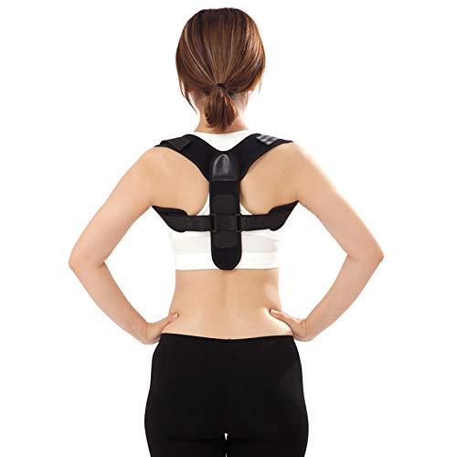 YSXFS Posture Corrector for Adult,Back Posture Corrector, Adjustable Shoulder Posture Correction Posture Trainer Spine and Back Support (Color : Black, Size : One size)