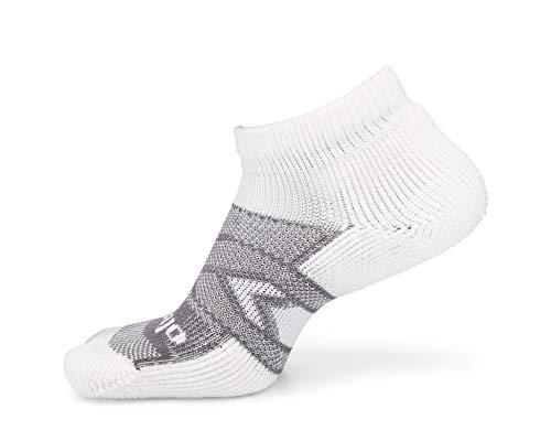 thorlos Unisex-Erwachsene 12 Hour Shift Thick Padded Ankle Work Socken, weiß/grau, X-Large