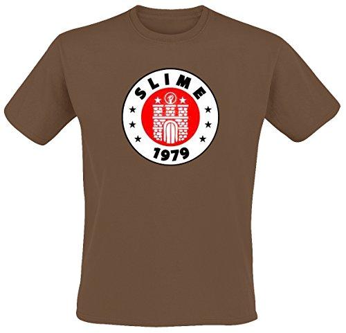 Slime - St. Pauli T-Shirt, braun, Grösse L