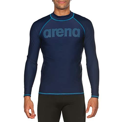 ARENA Herren Sonnenschutz Langarm Shirt Uv, Navy-Sea Blue, XL