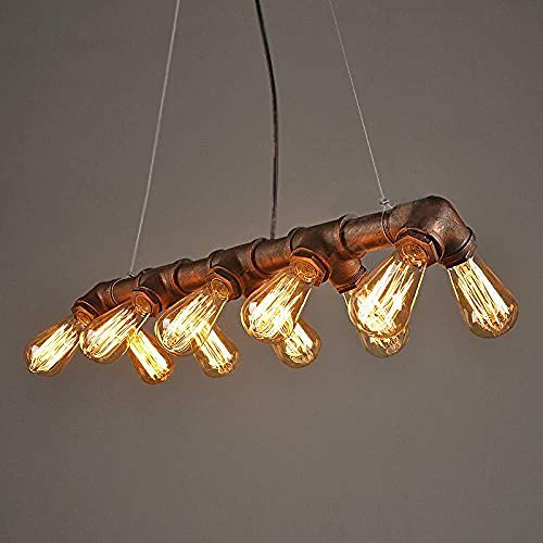 Araña de Steampunk del Vintage Industrial, lámpara Retro tubería de Agua de Metal de Cobre Colgante Industrial lámpara de iluminación para los restaurantes Bar, ha Sido Ruste,Copper