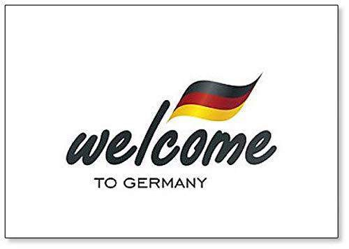 Welcome to Germany Inschrift mit Flagge Kühlschrankmagnet