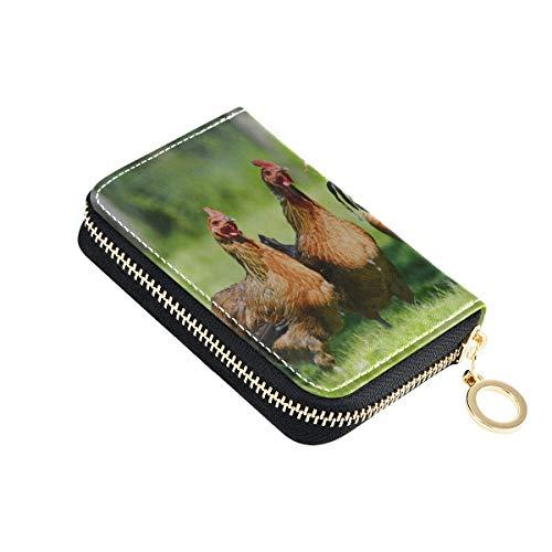 Tarjetero Monedero para Mujer Pollos en gallinas Tradicional