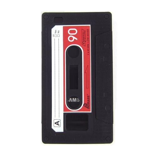 Sonstige Silicone Case/Cover pour Samsung Galaxy S2 / Plus - Housse CASSETTE Musique cassette Quatrième de couverture Shell 9100 / i9105 Vintage rouge noir