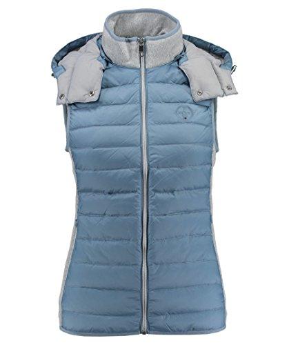 Tommy Hilfiger Damen New GINA Combo LW Vest Weste, Mehrfarbig (Ashley Blue/Light Grey Htr 901), 42 (Herstellergröße: XL)