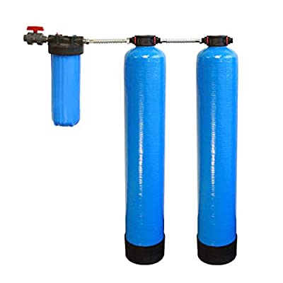 Tier1 Whole House Carbon and KDF Water Filter System for 1-3 Bathrooms with Salt Free Softener & 10 inch, 5 Micron Pre-Filter