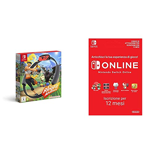 Ring Fit Adventure (Nintendo Switch ) + 365 Giorni Switch Online Membri Individual (Codice download)
