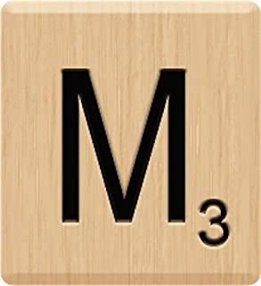 Scrabble Tiles (10) Beautiful Scrabble Letter M Tiles, Scrabble for Crafts, Game Piece M, 10 Letter M, Hardwood, Individual, A to Z in Stock