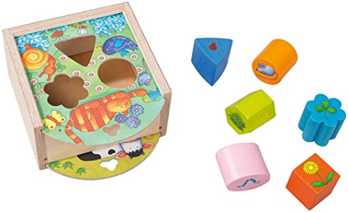 HABA Animals Sorting Box - Wooden Shape Sorter and Matching Toy for Ages 1 and Up (Made in Germany)