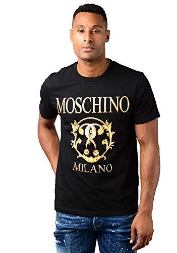Moschino T-Shirt da Uomo Romano Doppio Punto Interrogativo Nero - Nero, XL