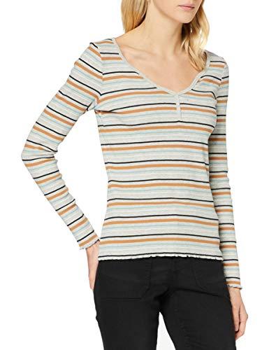 edc by ESPRIT Damen 120CC1K331 T-Shirt, 044/LIGHT Grey 5, M
