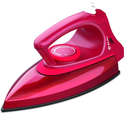 Bajaj Canvas Metallique Red Dry Iron 1000W, Regular