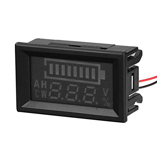 Read About ttnight Digital Voltmeter, 5-100V Digital Double Display Voltage Lead Acid Battery Electr...