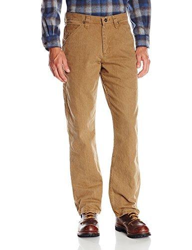 Lee - Pantalones vaqueros de pernera recta, corte holgado y estilo carpintero para hombre - Bronce - 38W x 36L
