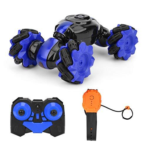 Omabeta Reloj de inducción RC Coche Padre-hijo Juguetes interactivos Deportes Reunión Niñas (azul)