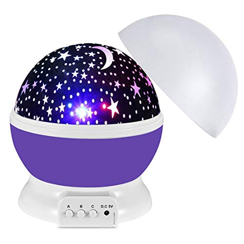 Star Night Light Projector for Bedroom, 360° Rotating Stars nightlight Projector Lamps for Kids, Birthday Christmas Gifts Presents Toys for 3 4 5 6 7 8 9 10 Year Old Boys Girls Toys Age 3-10 Purple
