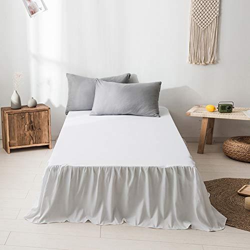 didian Bettwäsche Bett Rüschen,Dust Ruffle Easy Fit Mit 18 Zoll Tailored Drop,Hotelqualität Resistente Schrumpfung Fade Resistent,Weiß