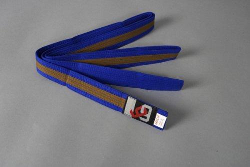 Ju-Sports Budogürtel Gürtel, Blau/Braun, 300