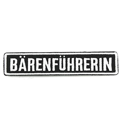 polizeimemesshop Namensschilder 2.0 Bärenführerin Textilpatch mit Klett