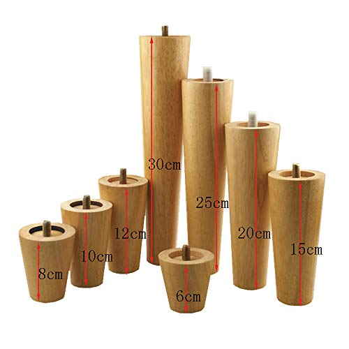 DGXQ 4 * Holzmöbelbeine,Sofabeine,Teetisch füße,TV-Schrankbeine,Badezimmerschenkel,Tischfüße,Stuhlbeine,6cm-30cm