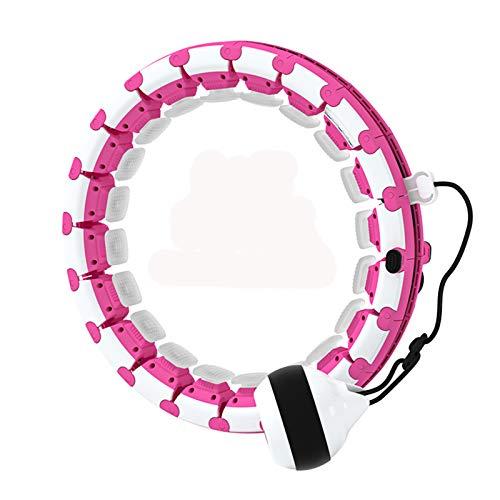 Pterygoid Aro inteligente con peso (mejorado) para adultos y niños, aro ajustable de giro automático, 24 nudos desmontables para pérdida de peso