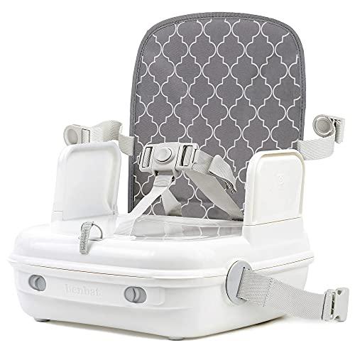 Rehausseur chaise enfant - Rehausseur de chaise - Rehausseur chaise enfant repas - Siège rehausseur bébé - Siège enfant table - Rehausseur 3 En 1 Yommigo - Blanc/ Gris - BE-BO513 BENBAT