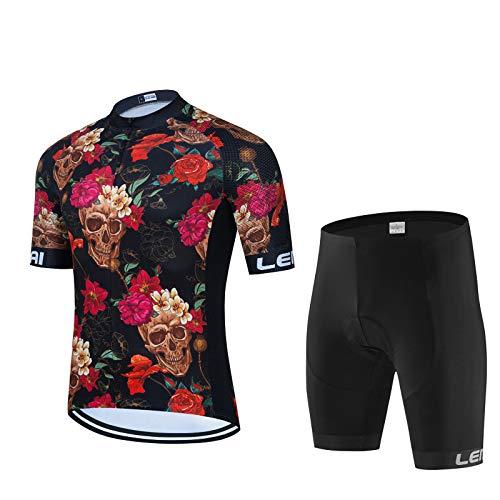 MIKLL Roapa Ciclismo con 9D Acolchado De Gel, Maillot Ciclismo + Pantalon/Culotte Bicicleta Transpirable Elástico Secado Rápido