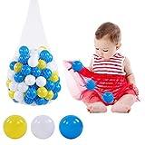 LIKJ Kids Ocean Balls, 100 Pit Balls Plastic Pit Balls No para casa de Juegos para Piscina para niños