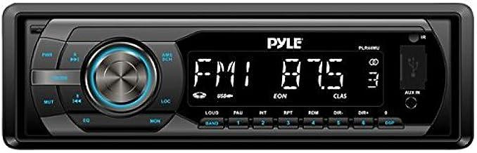 Universal Car Stereo Headunit Receiver - 12V Single DIN Style Digital Automobile Indash Radio System w/ MP3, USB, SD, AUX,...
