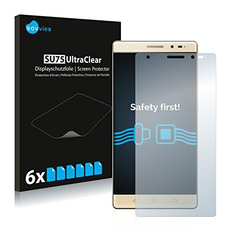 Savvies 6X Schutzfolie kompatibel mit Lenovo Phab 2 Plus Bildschirmschutz-Folie Ultra-transparent