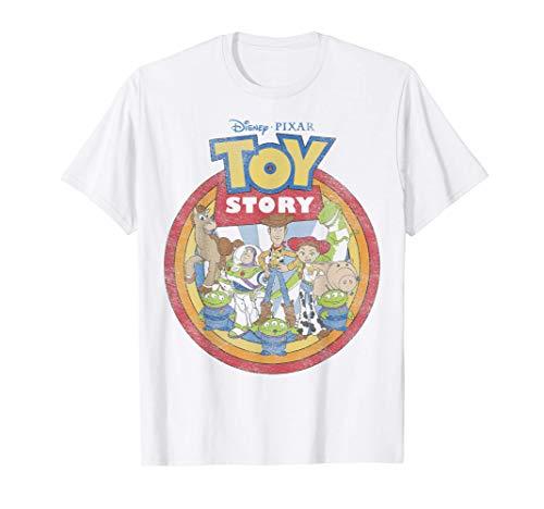 Disney Pixar Toy Story Vintage Circle Portrait Logo T-Shirt