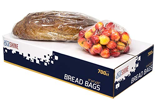 [700 Pack] 8' X 4' X 18' Strong Clear Bread Bags with Gusset– Perfect for Storing Loaves, Pastries, Baked Goods, & Produce – for Home or Commercial Food Storage Solutions
