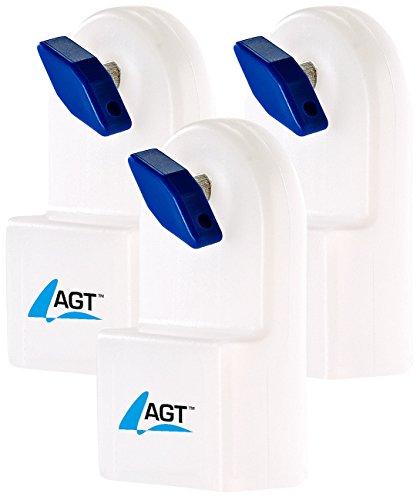 AGT Entlüftungsschlüssel: Manueller Heizkörper-Entlüfter m. integriertem Wasserbehälter, 3er-Set (Heizungsentlüfter mit Behälter)
