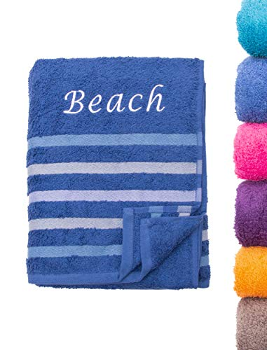 Strandtuch Saunatuch Badetuch 80x200 cm 100{59d718be69807314ce869657ccce995c4380e145674d0ae44b76a5386bed0f17} Baumwolle in Verschiedene Designs, Royal Beach