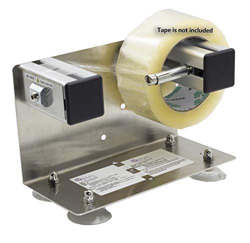 LDS Industry Dispensador de cinta y etiquetas de pared para mesa de escritorio, marco de acero inoxidable con ventosa TTD-01