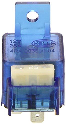 HELLA 4RA 003 530-042 Relais, Arbeitsstrom - 12V - 4-polig - Schaltbild: S10 - Stecker: A - Schließer - Farbe: hellblau - mit Halter