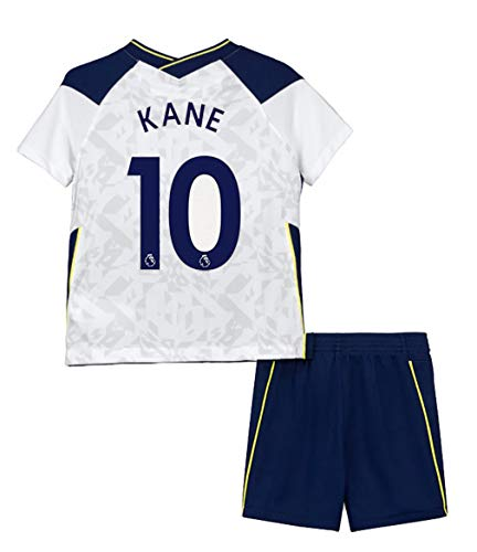 PLUY 2020-2021 Season Soccer Kane #10 Kids/Youths Home Jersey & Shorts T-Shirts Color White Size 22