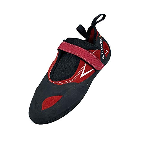 Climb X E-Motion High Performance Rock Climbing/Bouldering Shoe 2020 (Numeric_10) Red, Black