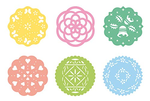 Tescoma 630676 JGO 6 Plantillas Decorativas Delicia, De plástico, Multicolor