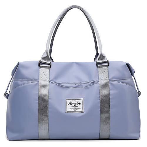 Bolsa de deporte ligera de viaje para mujer, bolsa de viaje impermeable, kits húmedos, bolsa de fin de semana