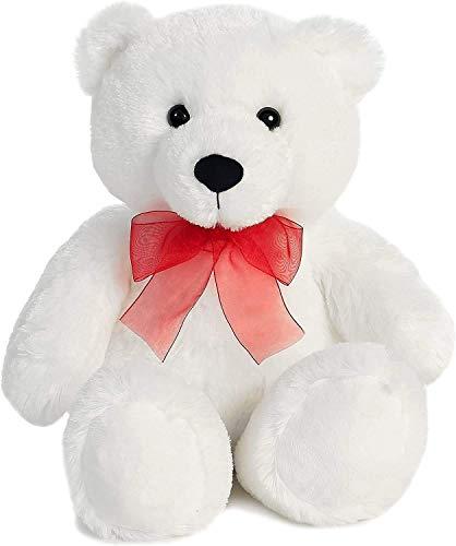 Linda Pelúcia Macia Ursinho Urso Branco 38cms de Altura