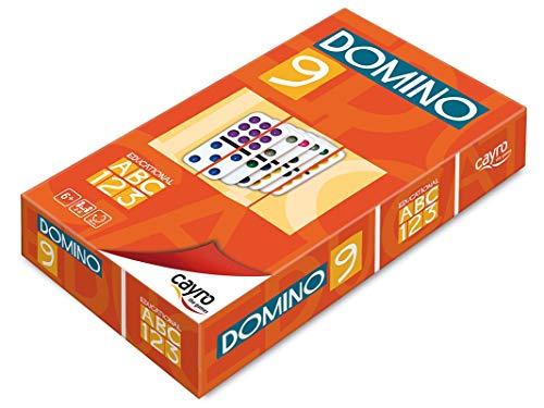 Cayro - Dominó colores doble 9 - Juego tradicional - juego de mesa - Desarrollo de habilidades cognitivas y lógico matemáticas - Juego de mesa (247)